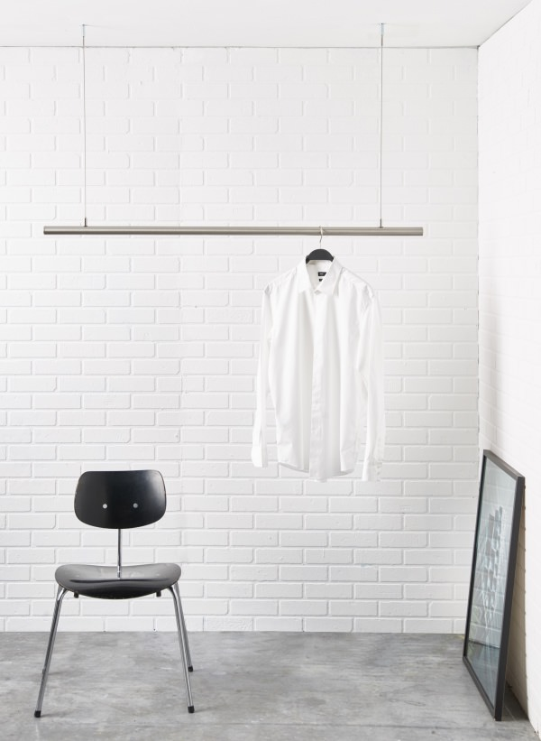 adjustable ceiling mounted hanging clothes rack