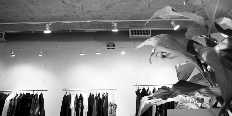 Kleiderstangensystem für Boutiquen und Modehandel