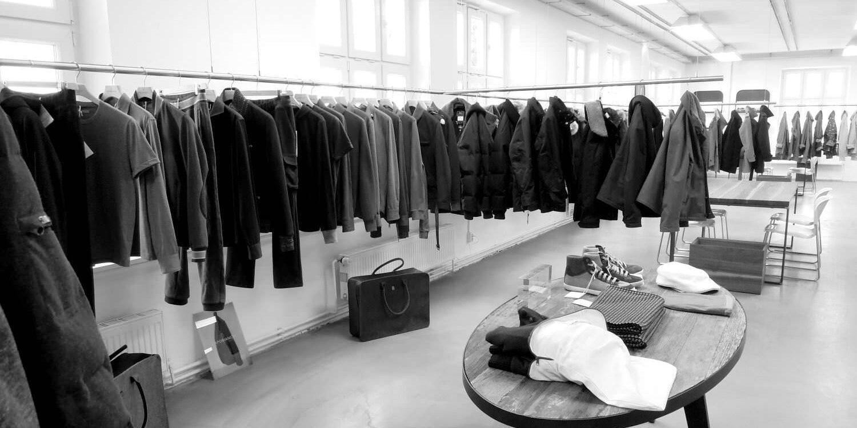 Kleiderstangensystem für Showrooms