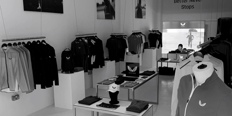 Kleiderstangensystem freihängend für die Decke für Fashion Stores