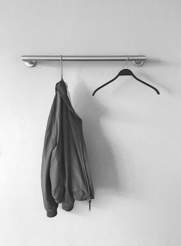 clothes rail wall mounting stainless steel